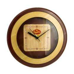 Orbit Wood Finish Wall Clock