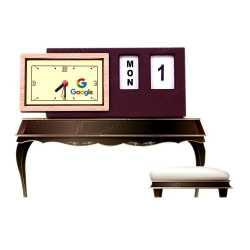 Wood Finish Table Clock