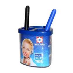 Sleek Advertising Pen Stand