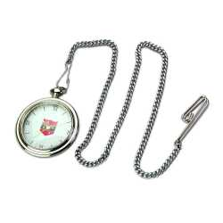 Silver Color Clock with Chain