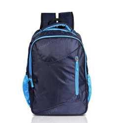 Multi-zipper Navy Blue Backpack