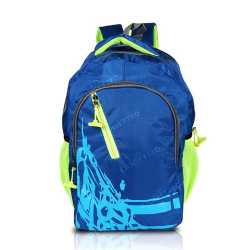 Multi-zipper Designed Blue Backpack