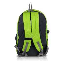 Multi-zipper Designed Neon Green Backpack