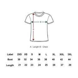Fine Cotton Womens Round Neck T-Shirt