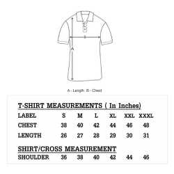 Heavy Cotton Mens Collar with Piping T-Shirt