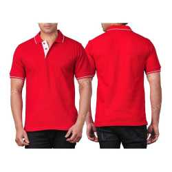 Ultra Cotton Mens Collar with Piping T-Shirt