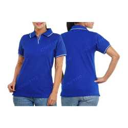Comfort Zone Polo Womens Collar with Piping T-Shirt