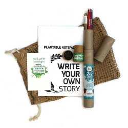 Plantable Jute Kit ( 1 Note Pad +  2 Paper Seed Pens + 2 Seed Pencils in Jute Bag )