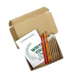 Plantable Stationary Box ( 1 Notepad + 5 Paper Seed Pens + 5 Seed Pencils )