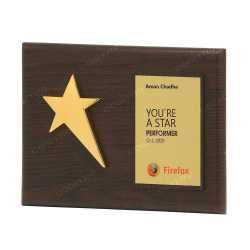 Single Star Wooden Memento