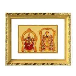 Padmavathi Balaji 24ct Gold Foil with DG Frame