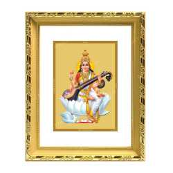 Swaraswathi 24ct Gold Foil with DG Frame 1