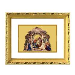 Bethlehem Nativity of Jesus 24ct Gold Foil with DG Frame