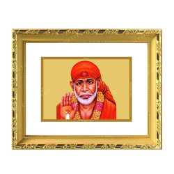 Sai Baba 24ct Gold Foil with DG Frame 1