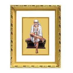 Sai Baba 24ct Gold Foil with DG Frame 2
