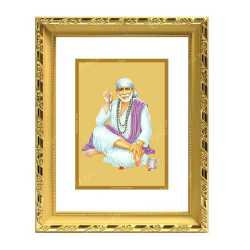Sai Baba 24ct Gold Foil with DG Frame 3