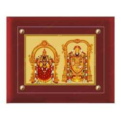 Padmavathi Balaji 24ct Gold Foil with MDF Frame