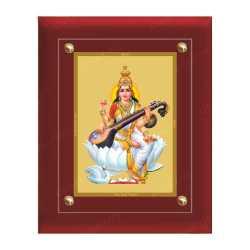 Swaraswathi 24ct Gold Foil with MDF Frame 1