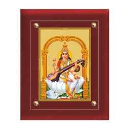 Swaraswathi 24ct Gold Foil with MDF Frame 2