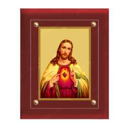 Jesus 24ct Gold Foil with MDF Frame