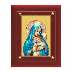 Mariya and Jesus 24ct Gold Foil with MDF Frame