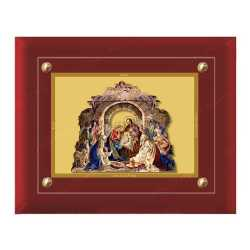Bethlehem Nativity of Jesus 24ct Gold Foil with MDF Frame