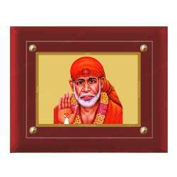 Sai Baba 24ct Gold Foil with MDF Frame 1