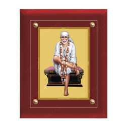 Sai Baba 24ct Gold Foil with MDF Frame 2