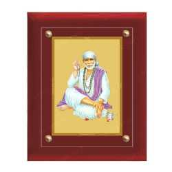 Sai Baba 24ct Gold Foil with MDF Frame 3