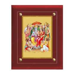 Ram Darbar 24ct Gold Foil with MDF Frame