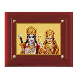 Raman Seetha 24ct Gold Foil with MDF Frame