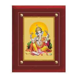 Lord Ganesha 24ct Gold Foil with MDF Frame 2