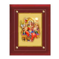 Maa Durga 24ct Gold Foil with MDF Frame 1