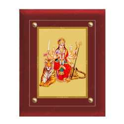 Maa Durga 24ct Gold Foil with MDF Frame 2