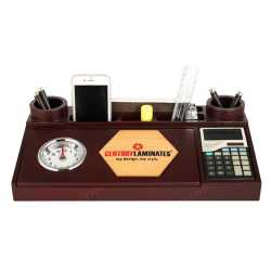 Pen Holder with clock and Calculator