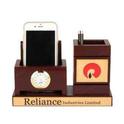 Pen Holder with Mobile Holder and clock