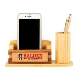 Wooden Pen Holder with  Mobile Holder