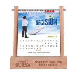 Wooden Table Top Calendar  Holder