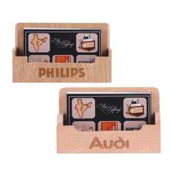 Wooden Table Top Visiting Card Holder