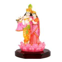 Lord RadhaKrishna Wooden Table Top 9.5