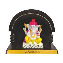 Lord Ganesha Wooden Table Top 7.5