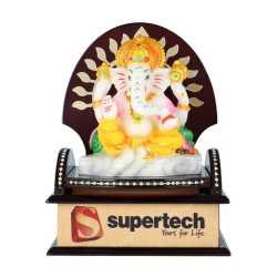 Lord Ganesha Wooden Table Top