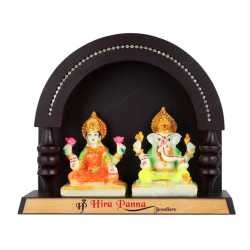Lord Lakshmi and Lord Ganesha Wooden Table Top
