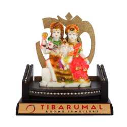 Lord Siva & Parvathi Wooden Table Top