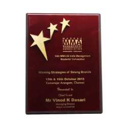 Triple Golden Star Piano Finish Plaque