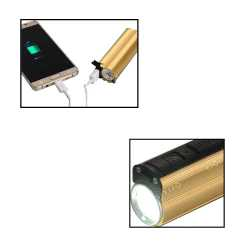 Metal Power Bank with Lighter,Two Level Tourch and Blinker