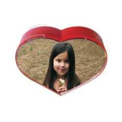Rotating Heart Shape Dual Photo Frame
