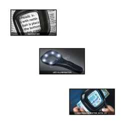 Three in one LED magnifier