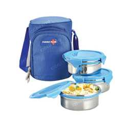 Zippy Lunch Bag with 3 Stainless Steel Container