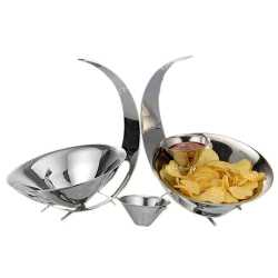 Stainless steel snack serving Bowl set